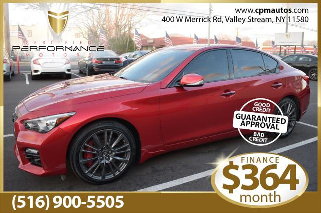 2017 INFINITI Q50 Red Sport 400 for sale in Valley Stream, NY