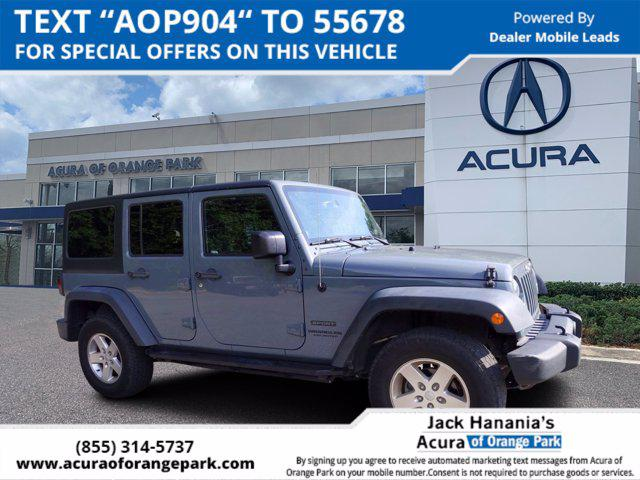 2014 Jeep Wrangler Unlimited Sport for sale in Jacksonville, FL