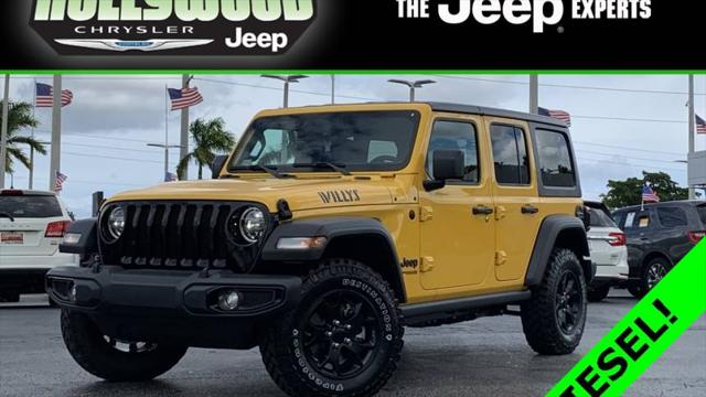2021 Jeep Wrangler Unlimited Willys for sale in Hollywood, FL