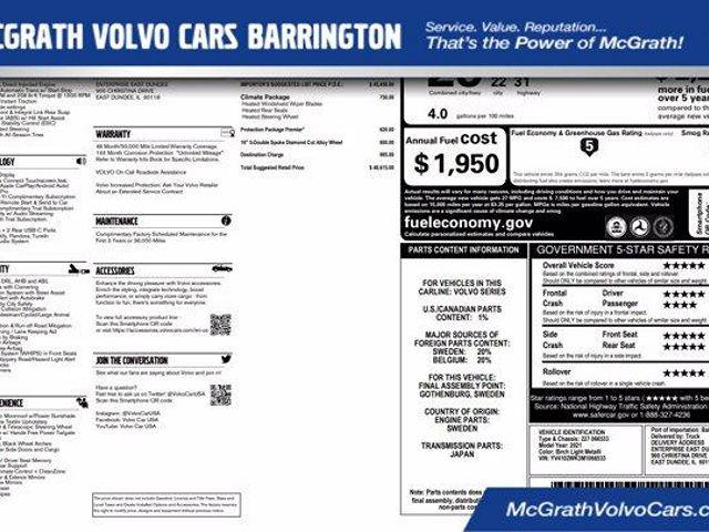 2021 Volvo V60 Cross Country T5 AWD for sale in Barrington, IL