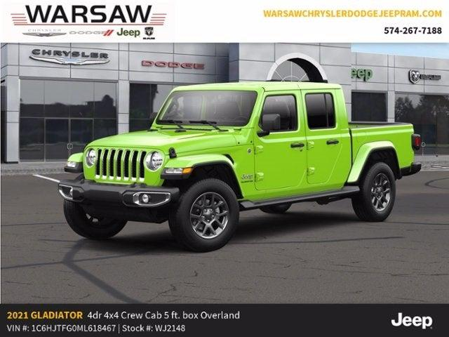 2021 Jeep Gladiator Overland for sale in Warsaw, IN
