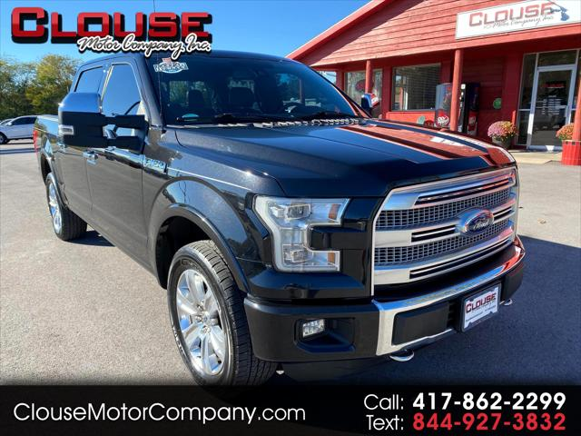 """2015 Ford F-150 4WD SuperCrew 145"""""""" Platinum for sale in Rogersville, MO"""
