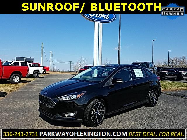 Shadow Black 2017 Ford Focus SEL 4D Sedan Lexington NC