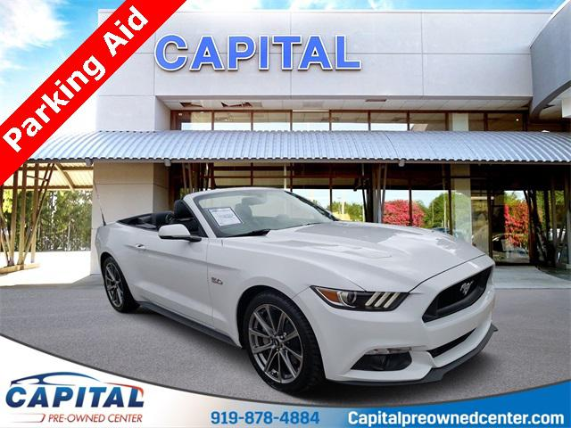 Oxford White 2017 Ford Mustang GT PREMIUM 2D Convertible Raleigh NC