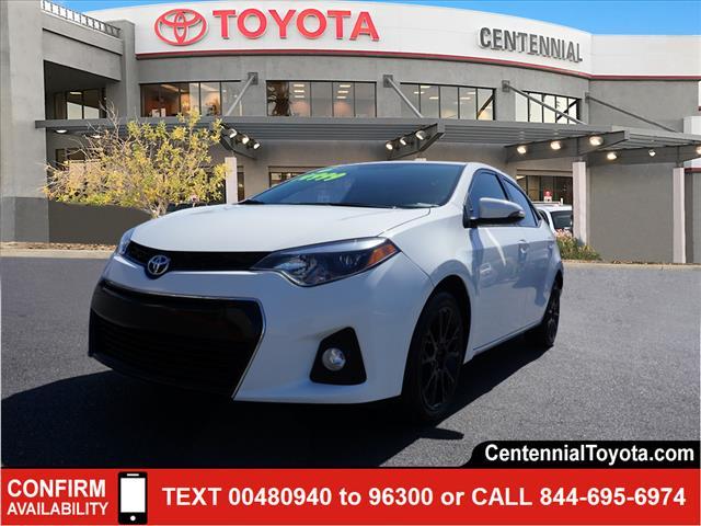 2016 Toyota Corolla S PLUS 4dr Car Las Vegas NV