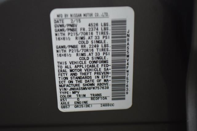 2015 Nissan Rogue Select S 11