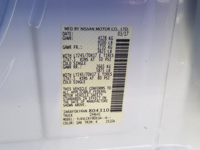 2017 Nissan NV Cargo S 28