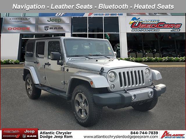 Billet Silver Metallic Clearcoat 2017 Jeep Wrangler Unlimited SAHARA SUV Huntington NY