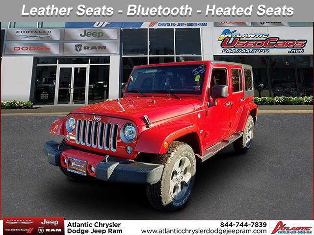 Firecracker Red Clearcoat 2017 Jeep Wrangler Unlimited SAHARA SUV Huntington NY