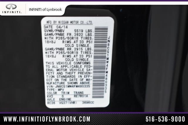 2015 INFINITI QX70 AWD 4dr 8