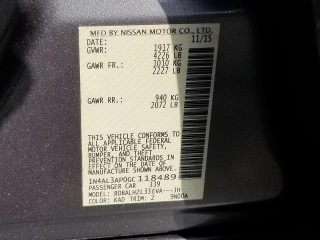 2016 Nissan Altima 2.5 SR 28