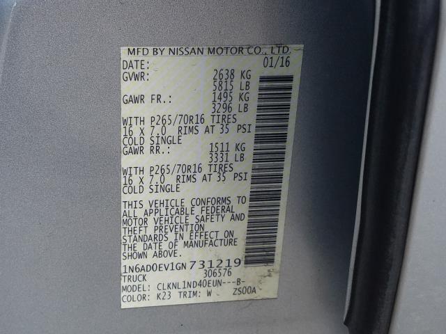 2016 Nissan Frontier S 28