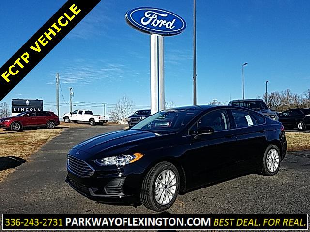 Agate Black 2019 Ford Fusion SE 4D Sedan Lexington NC