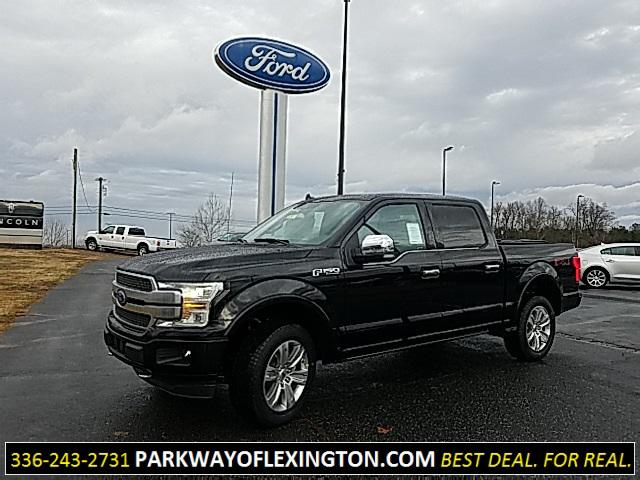 Agate Black Metallic 2019 Ford F-150 PLATINUM 4D SuperCrew Lexington NC