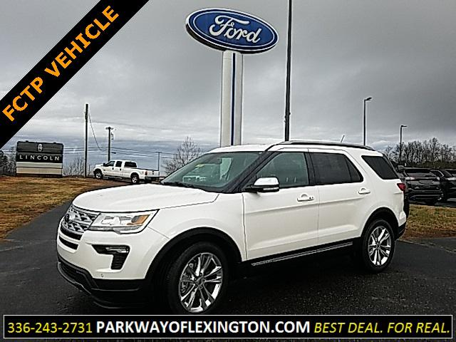 White 2019 Ford Explorer XLT 4D Sport Utility Lexington NC