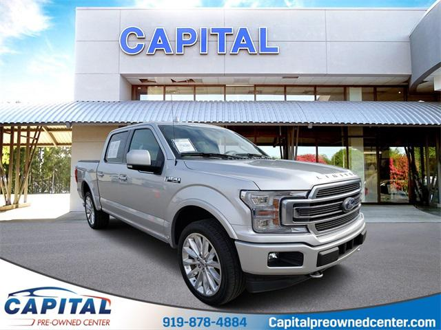 Ingot Silver Metallic 2018 Ford F-150 LIMITED 4D SuperCrew Raleigh NC