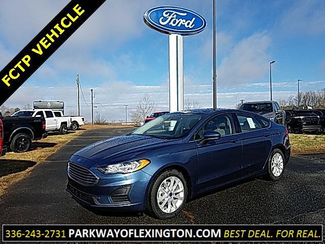 Blue Metallic 2019 Ford Fusion SE 4D Sedan Lexington NC