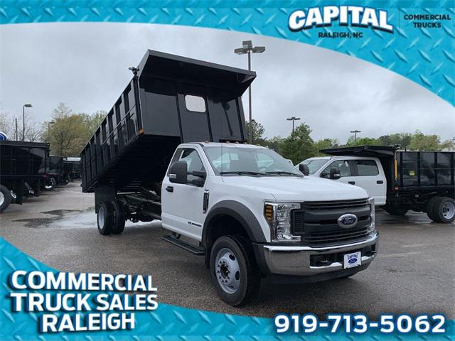 Oxford White 2019 Ford F-550Sd 16FT DUMP Cab/Chassis Raleigh NC