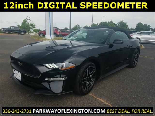 Shadow Black 2018 Ford Mustang ECOBOOST PREMIUM 2D Convertible Lexington NC