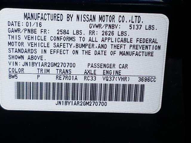 2016 INFINITI Q70 4dr Sdn V6 AWD 28