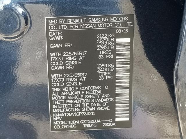 2016 Nissan Rogue SV 30