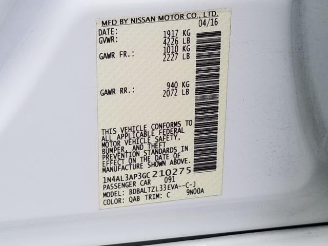 2016 Nissan Altima 2.5 SL 26