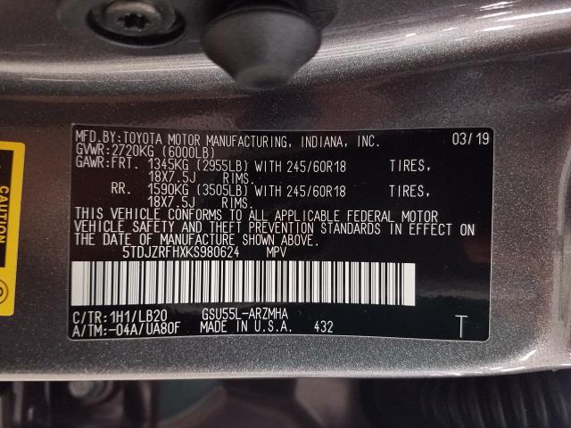 2019 Toyota Highlander XLE 28