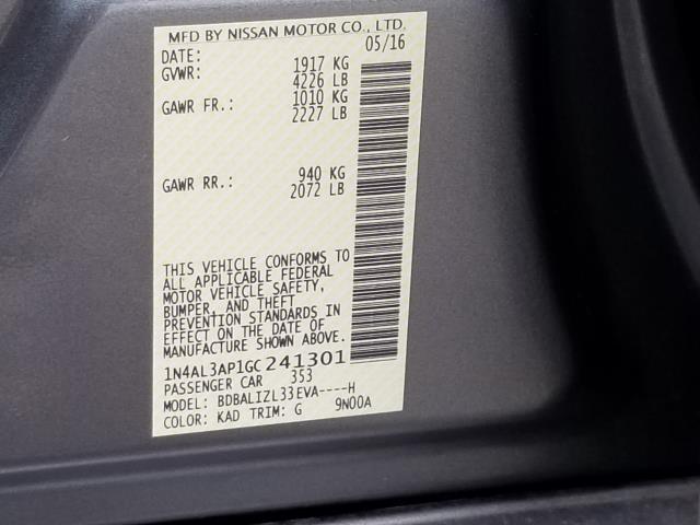 2016 Nissan Altima 2.5 SV 25