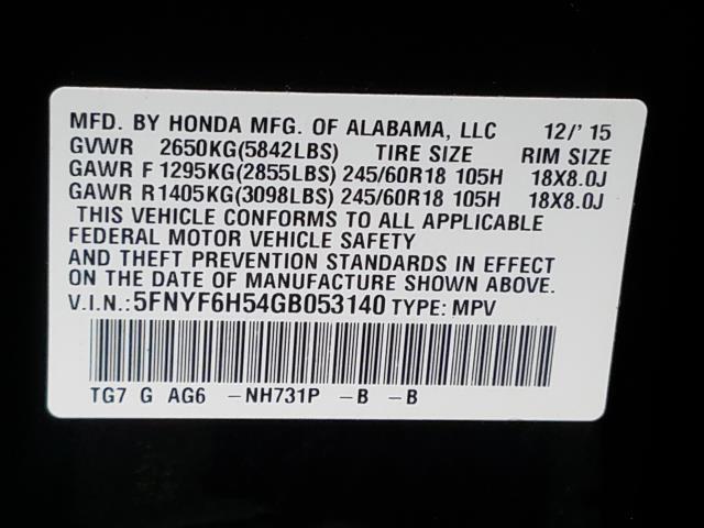 2016 Honda Pilot EX-L 26