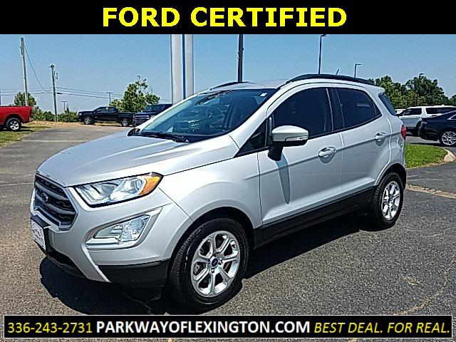 Moondust Silver Metallic 2018 Ford Ecosport SE 4D Sport Utility Lexington NC
