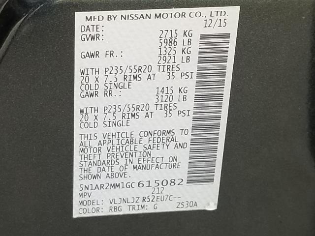 2016 Nissan Pathfinder Platinum 28