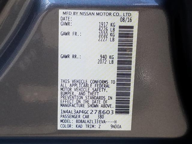 2016 Nissan Altima 2.5 SR 29