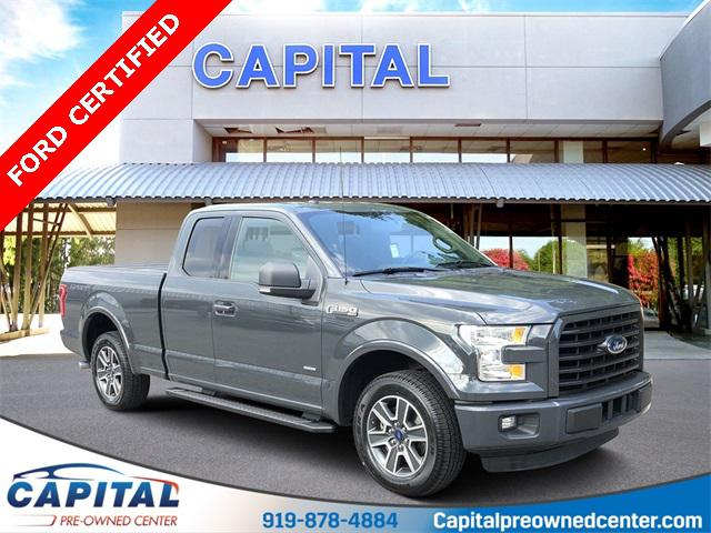 Lithium Gray 2016 Ford F-150 XLT Super Cab Raleigh NC
