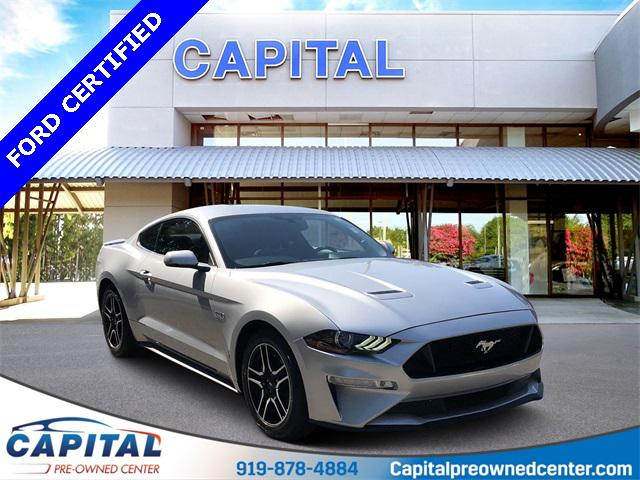 Ingot Silver Metallic 2018 Ford Mustang GT PREMIUM 2D Coupe Raleigh NC