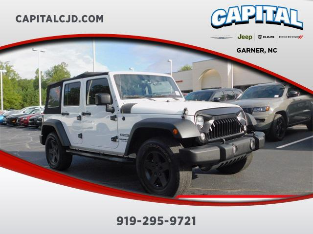 Bright White Clearcoat 2016 Jeep Wrangler Unlimited SPORT SUV Garner NC