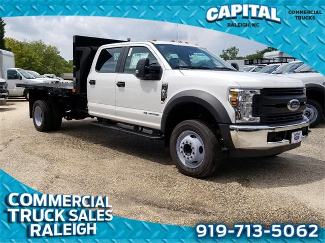 Oxford White 2019 Ford F-550Sd 12FT FLATBED DUMP Cab/Chassis Raleigh NC