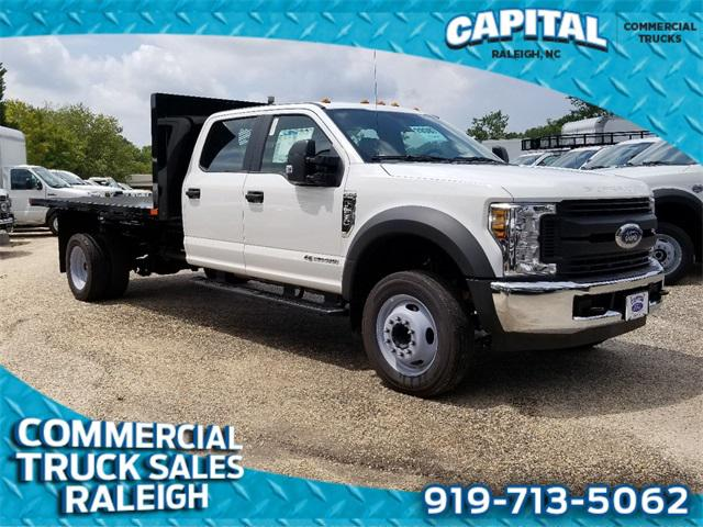 2019 Ford F-550Sd 12FT FLATBED DUMP Cab/Chassis Slide 0