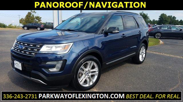 Blue Jeans Metallic 2017 Ford Explorer XLT 4D Sport Utility Lexington NC