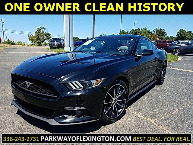 Shadow Black 2016 Ford Mustang ECOBOOST 2D Coupe Lexington NC