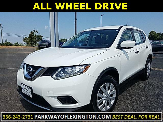 Glacier White 2016 Nissan Rogue S 4D Sport Utility Wake Forest NC