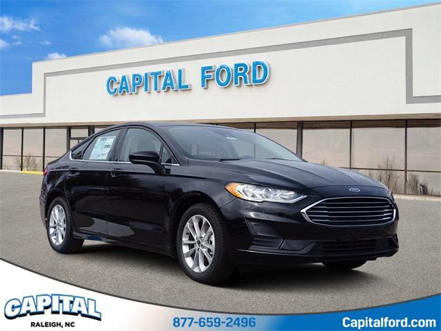 Black 2019 Ford Fusion SE 4D Sedan Raleigh NC