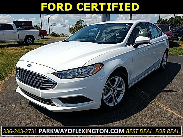 Oxford White 2018 Ford Fusion SE 4D Sedan Lexington NC