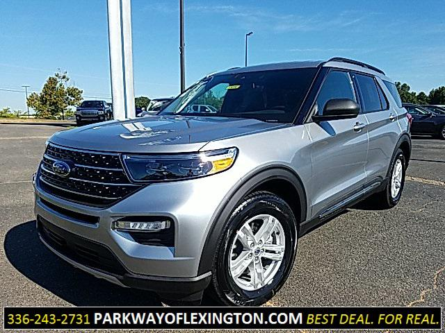 Iconic Silver Metallic 2020 Ford Explorer XLT 4D Sport Utility Lexington NC