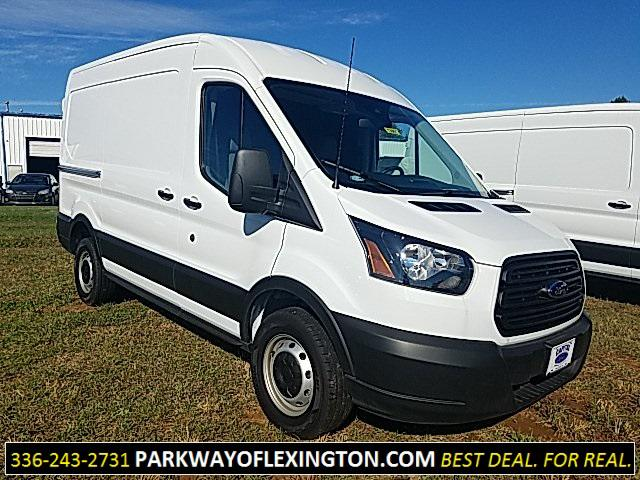 "Oxford White 2019 Ford Transit Van T-250 130"" MED RF 9000 GVWR SLIDING RH DR 3D Medium Roof Cargo Van Lexington NC"