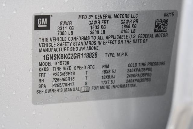2016 Chevrolet Tahoe LT 29