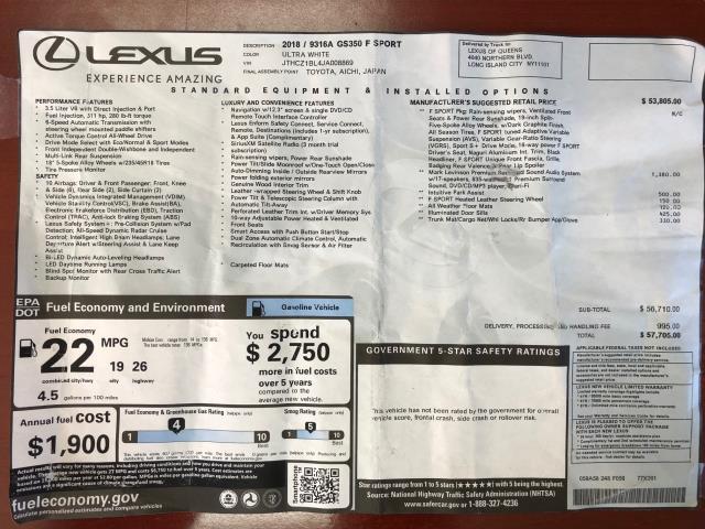 2018 Lexus Gs GS 350 27