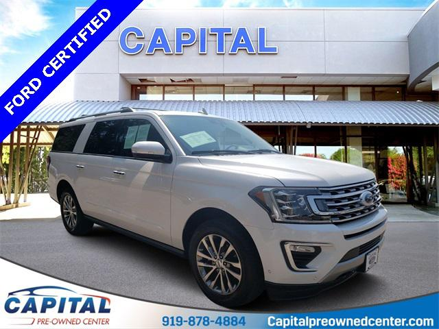 White Platinum Metallic Tri-Coat 2018 Ford Expedition Max LIMITED 4D Sport Utility Raleigh NC