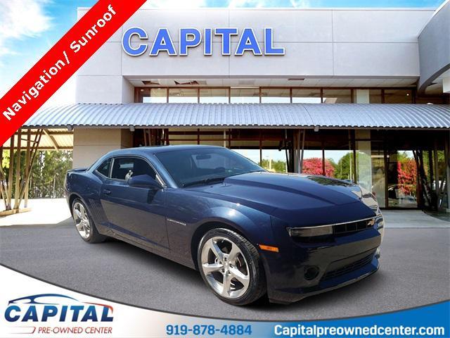 Blue Velvet Metallic 2015 Chevrolet Camaro 2LT 2D Coupe Raleigh NC