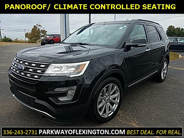 Shadow Black 2017 Ford Explorer LIMITED 4D Sport Utility Lexington NC
