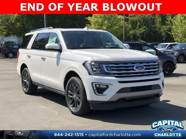 White Platinum Metallic Tri-Coat 2019 Ford Expedition LIMITED 4D Sport Utility Charlotte NC